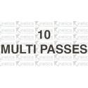 Multi-passes x 10 ($120)